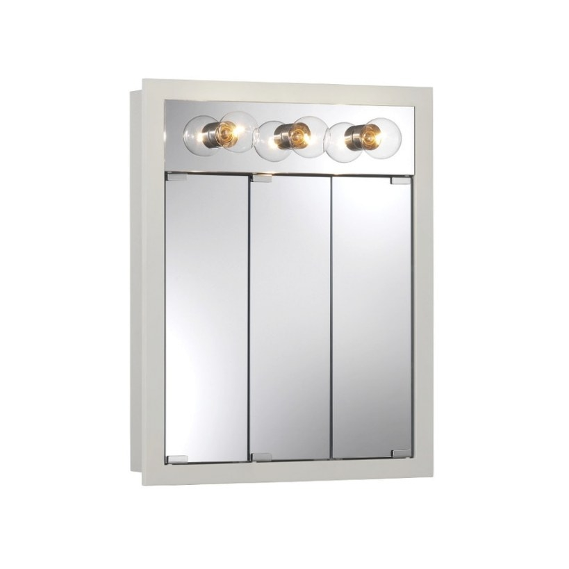 Shop Broan Granville 24-In X 30-In Rectangle Surface within Medicine Cabinet With Lights