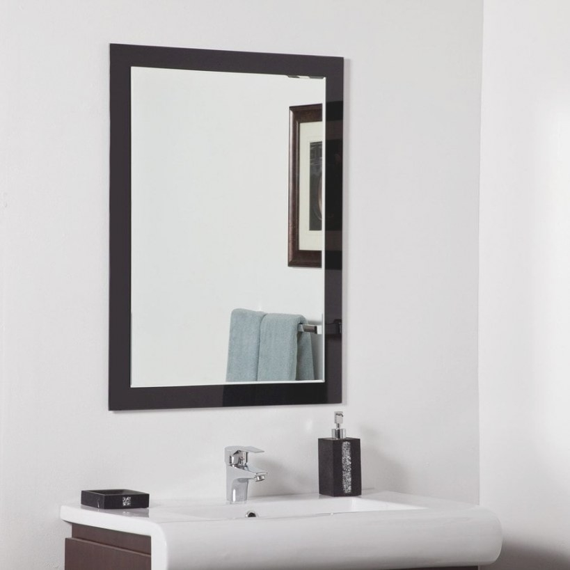 Shop Decor Wonderland Aris 23.6-In Black Rectangular pertaining to Rectangular Mirrors For Bathroom