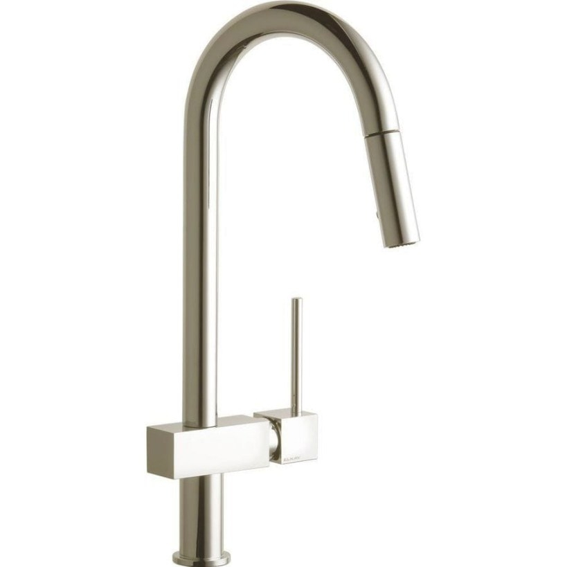 Shop Elkay Avado Brushed Nickel 1-Handle Pull-Down Kitchen throughout Brushed Nickel Kitchen Faucet