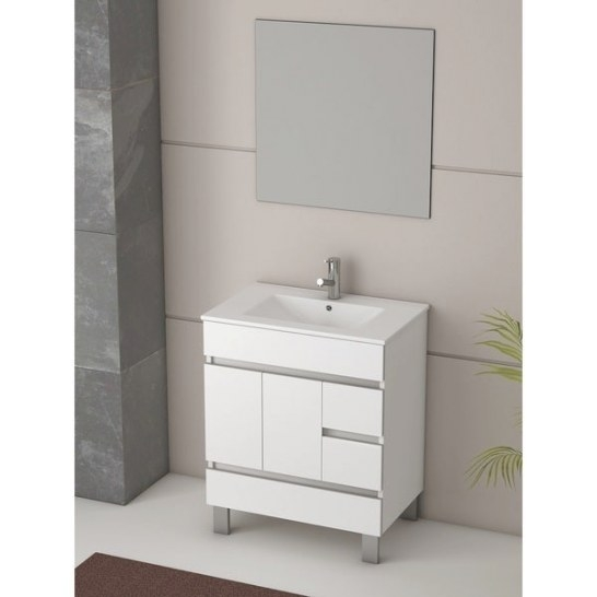 Shop Eviva Piscis 32-Inch Integrated Porcelain Single Sink regarding 32 Inch Bathroom Vanity