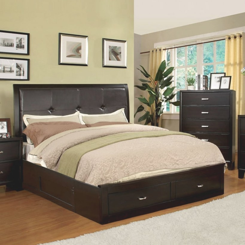 Shop Furniture Of America Enrico Espresso California King in Platform Bed With Storage