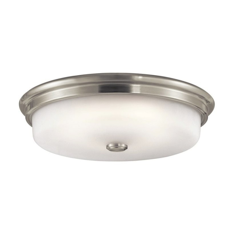 Shop Kichler Lighting 16-In W Brushed Nickel Led Ceiling for Flush Mount Ceiling Lights