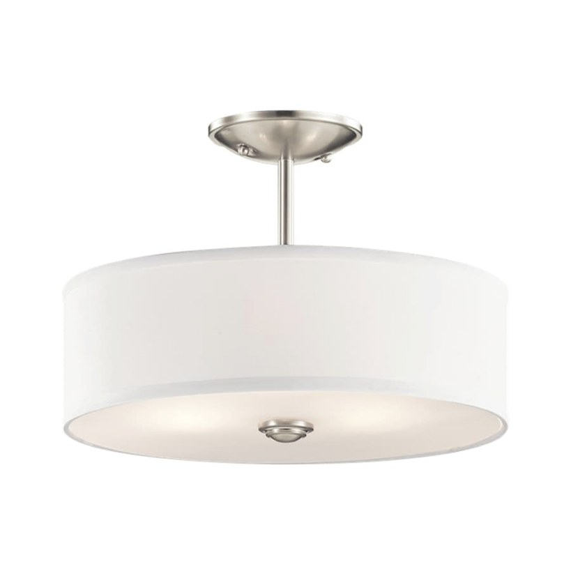 Shop Kichler Lighting Shailene 14-In W Brushed Nickel throughout Flush Mount Ceiling Lights