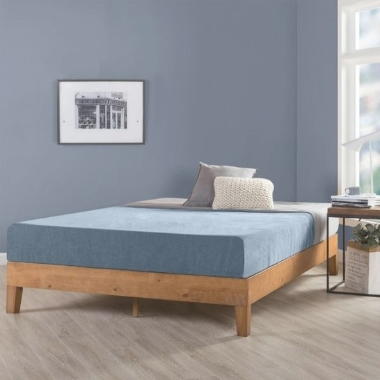 Shop King Size 12 Inch Grand Solid Wood Platform Bed Frame in King Size Platform Bed