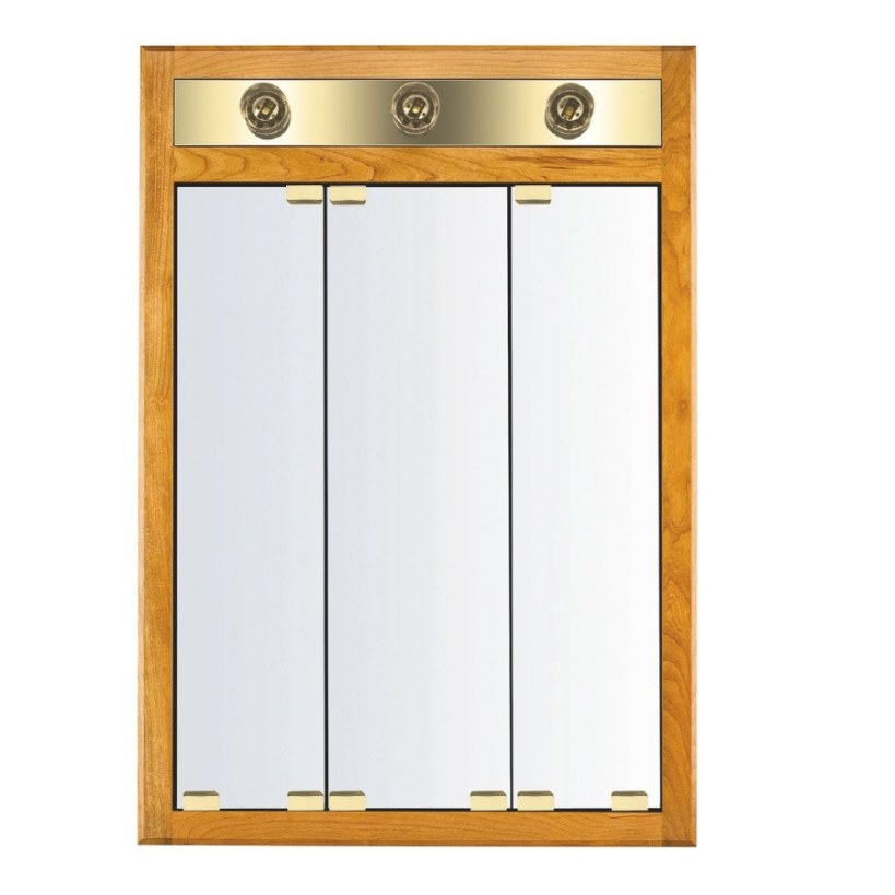 Shop Kraftmaid Formal 24-In X 35-In Square Surface in Medicine Cabinet With Lights
