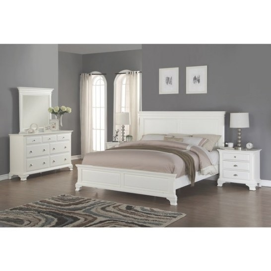 Shop Laveno 012 White Wood Bedroom Furniture Set, Includes for White And Wood Bedroom