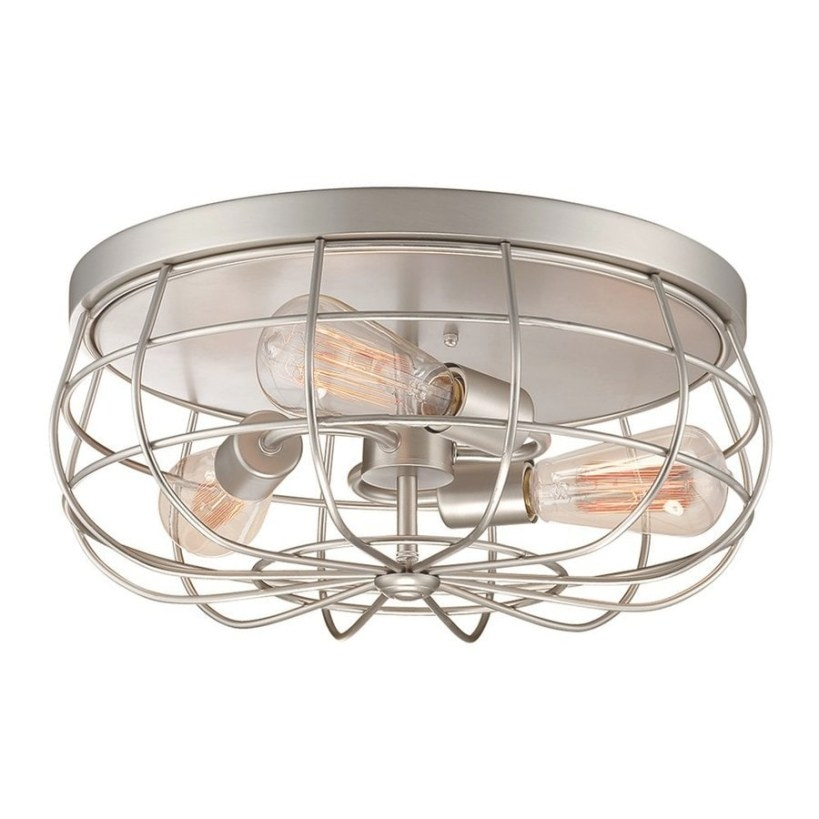 Shop Millennium Lighting Neo-Industrial 15.5-In W Satin throughout Flush Mount Ceiling Lights
