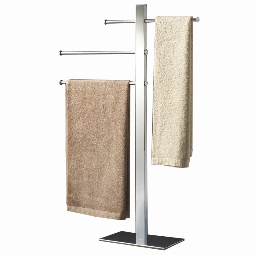 Shop Nameeks Gedy Bridge Chrome Brass Towel Rack At Lowes with regard to Towel Racks For Small Bathrooms