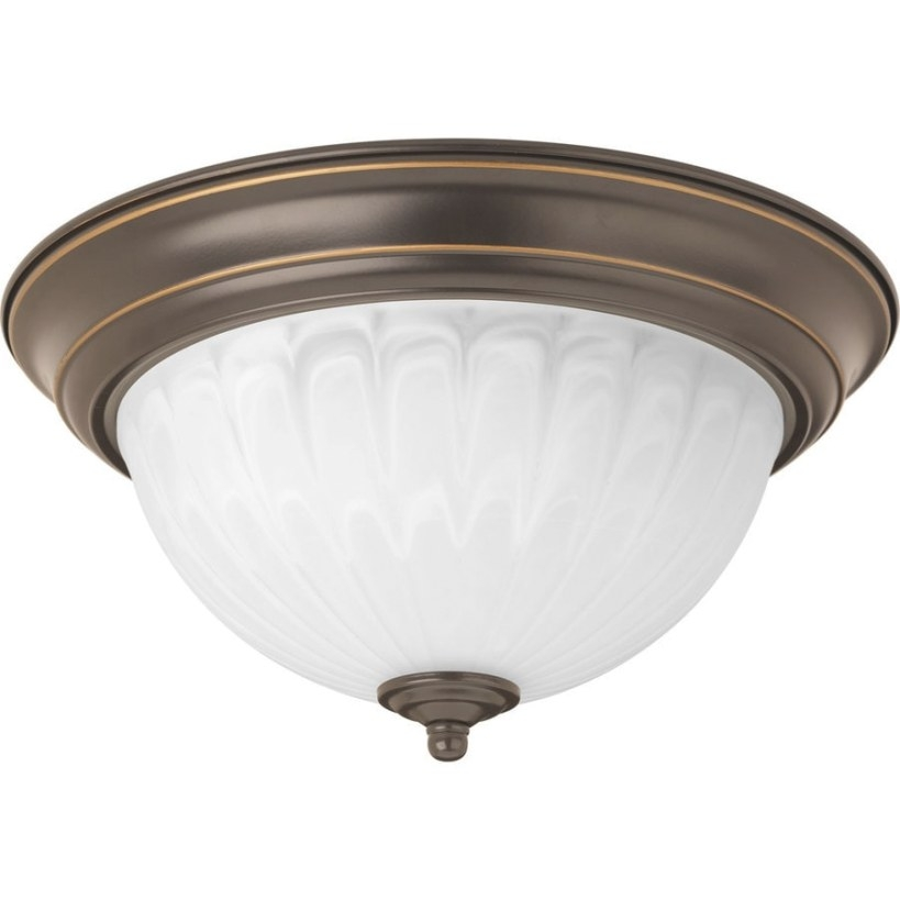 Shop Progress Lighting 11.375-In W Antique Bronze Led for Flush Mount Ceiling Lights