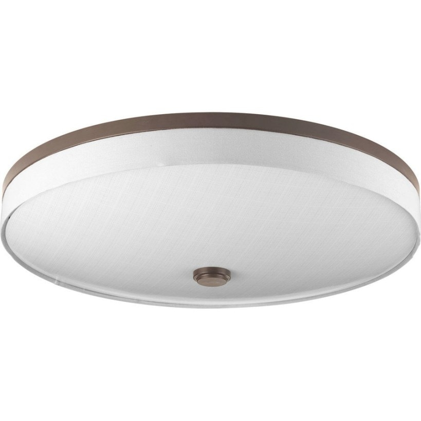 Shop Progress Lighting Weaver Led 22-In W Antique Bronze intended for Flush Mount Ceiling Lights