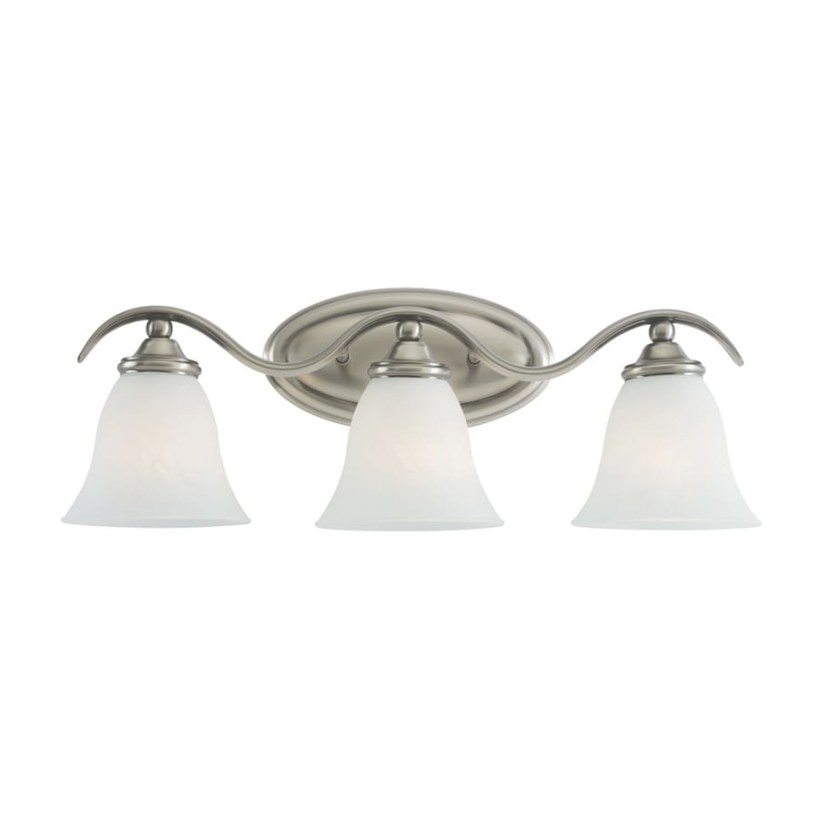 Shop Sea Gull Lighting 3-Light Rialto Antique Brushed pertaining to Bathroom Vanity Lights Brushed Nickel