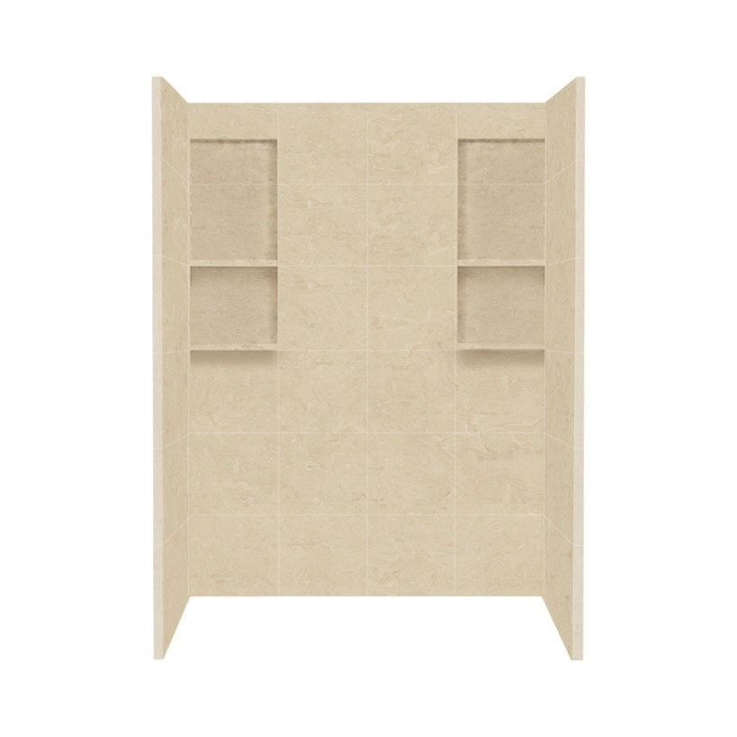 Shop Style Selections Almond Sky Solid Surface Shower Wall regarding Solid Surface Shower Wall Panels