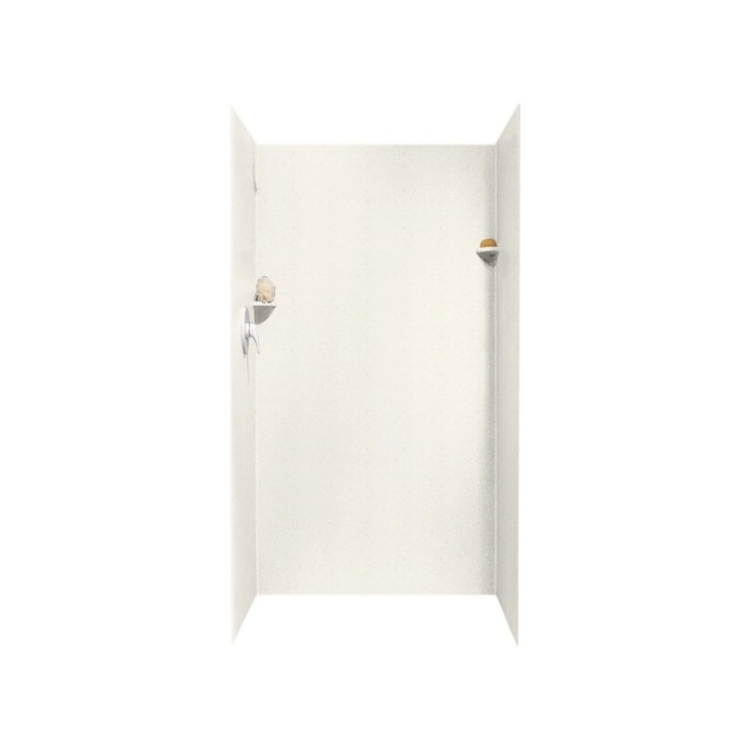 Shop Swanstone Baby'S Breath Solid Surface Shower Wall with Solid Surface Shower Wall Panels