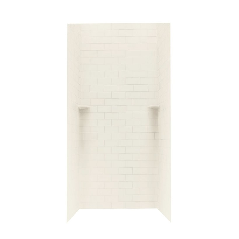 Shop Swanstone Bone Solid Surface Shower Wall Surround with Solid Surface Shower Wall Panels