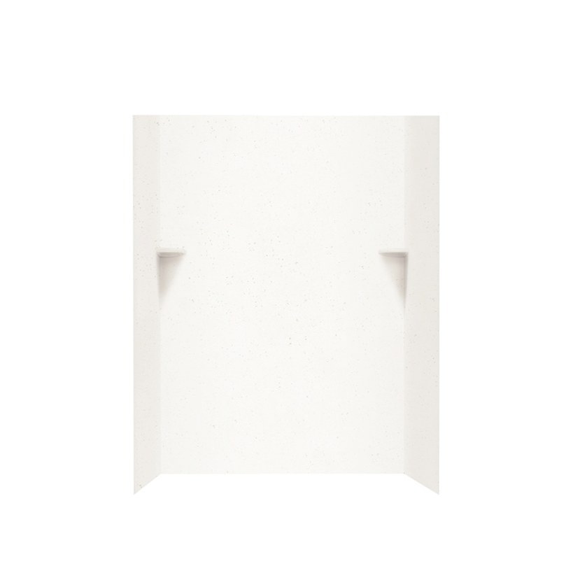 Shop Swanstone Crystal White Solid Surface Shower Wall for Solid Surface Shower Wall Panels