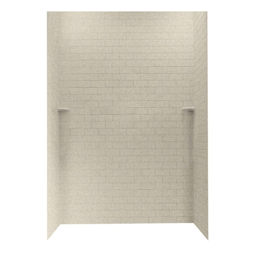 Shop Swanstone Prairie Shower Wall Surround Side And Back regarding Solid Surface Shower Wall Panels