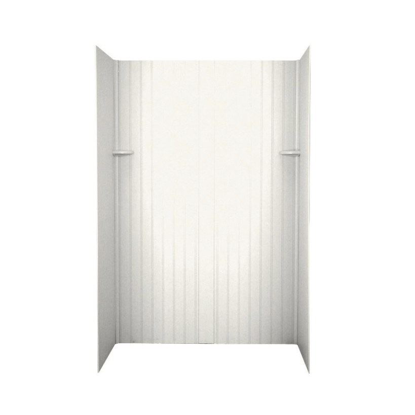 Shop Swanstone Tahiti Ivory Solid Surface Shower Wall throughout Solid Surface Shower Wall Panels