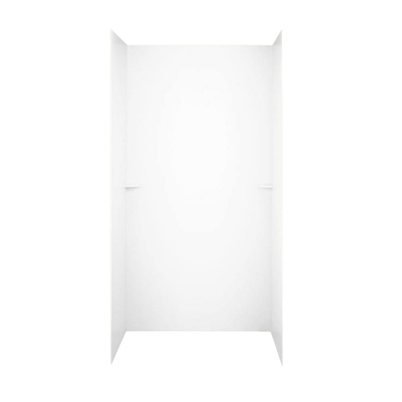 Shop Swanstone White Solid Surface Shower Wall Surround inside Solid Surface Shower Wall Panels