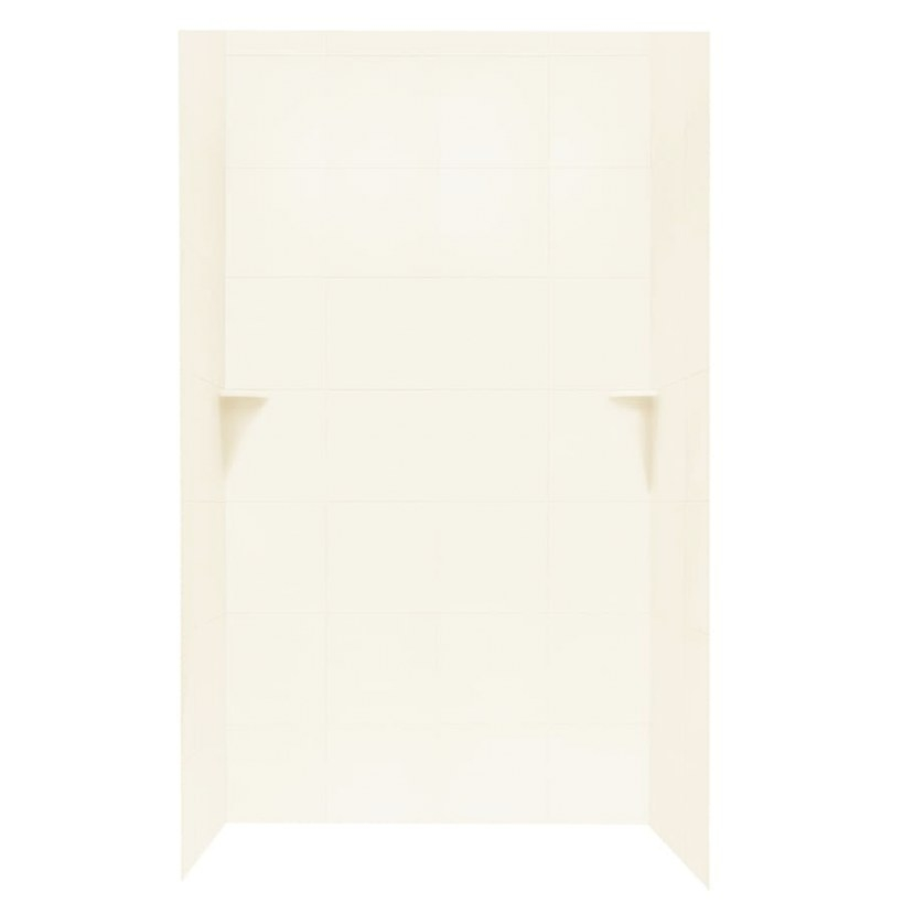 Shop Swanstone White Solid Surface Shower Wall Surround throughout Solid Surface Shower Wall Panels