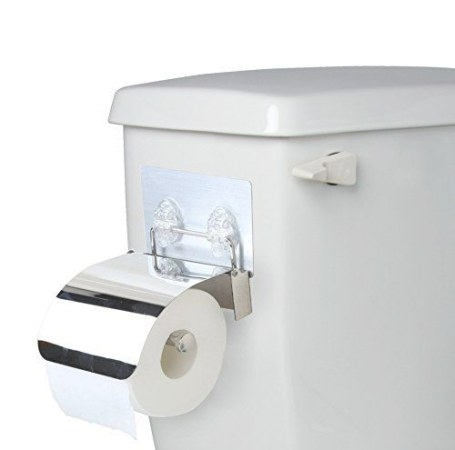Side-Of-Tank Neat Toilet Paper Holder - Non-Permanent Sti with regard to Where To Put Toilet Paper Holder In Small Bathroom