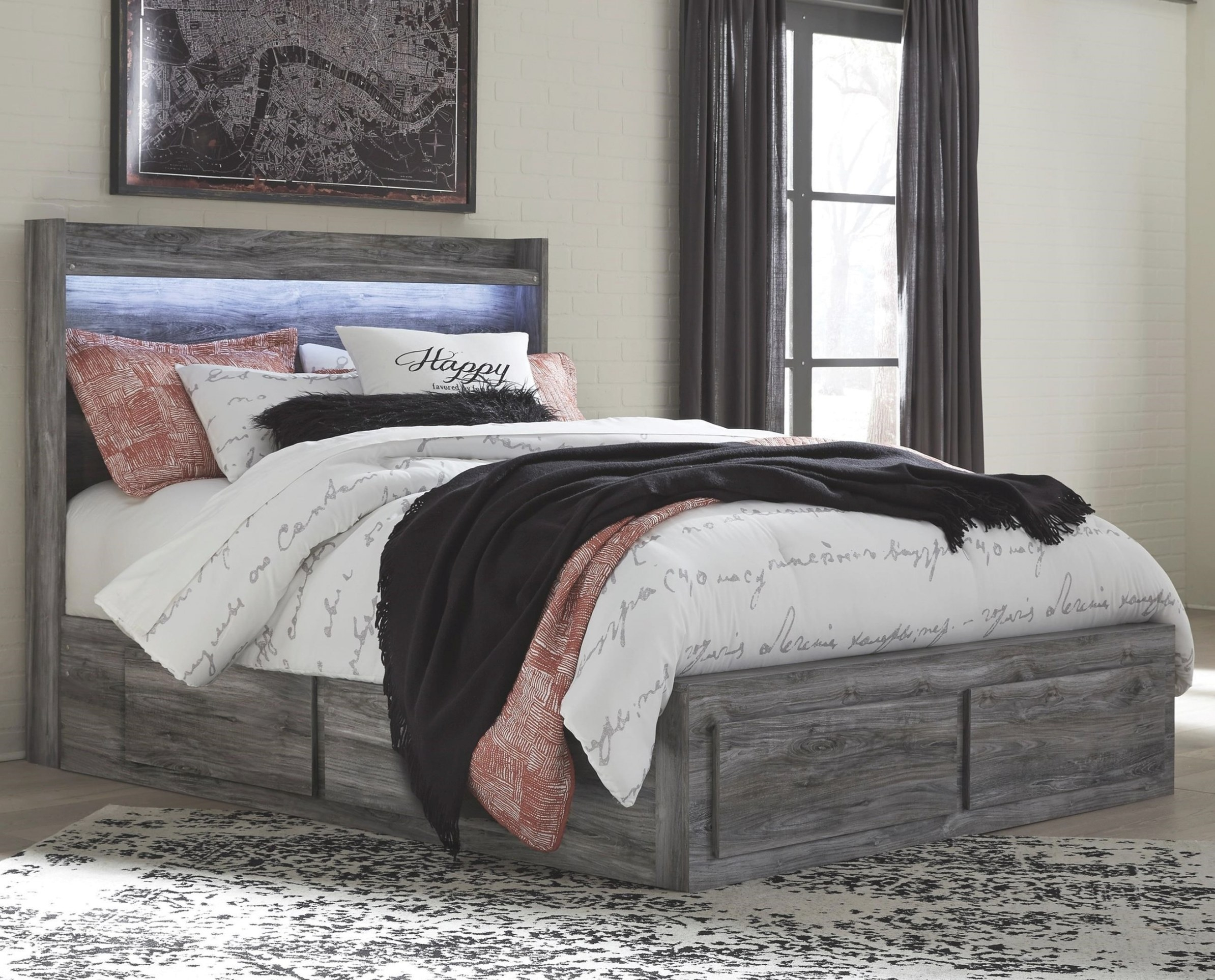 Signature Designashley Baystorm Queen Storage Bed With pertaining to Queen Bed With Storage