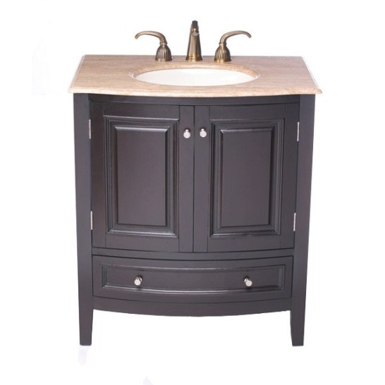 "Silkroad Exclusive Merrimack 32"" Single Bathroom Vanity with 32 Inch Bathroom Vanity"
