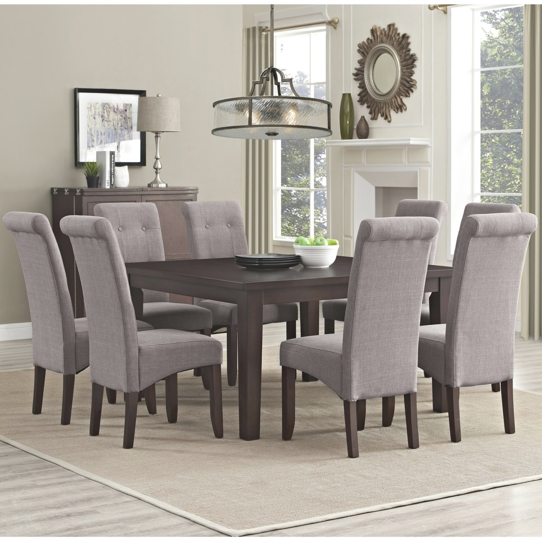 Simpli Home Eastwood 9 Piece Dining Set & Reviews | Wayfair with regard to 9 Piece Dining Set