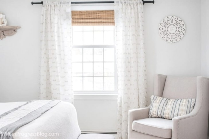 Small Master Bedroom Makeover: Before & After, Paint for Benjamin Moore Paper White