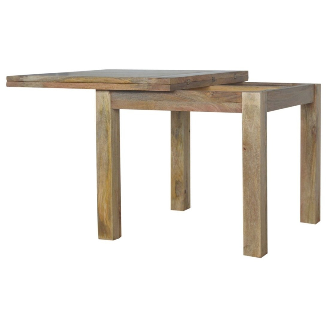 Solid Oak Finished Mango Wood Butterfly Extending Dining inside Mango Wood Dining Table