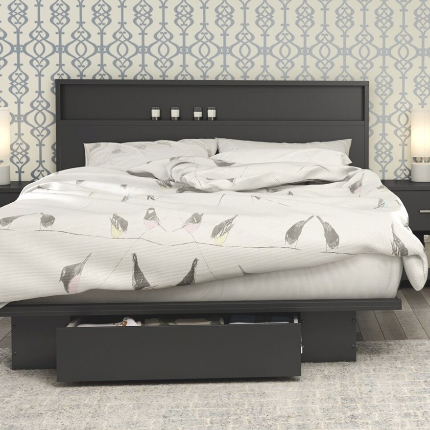 South Shore Full/ Queen Storage Platform Bed & Reviews in Queen Bed With Storage