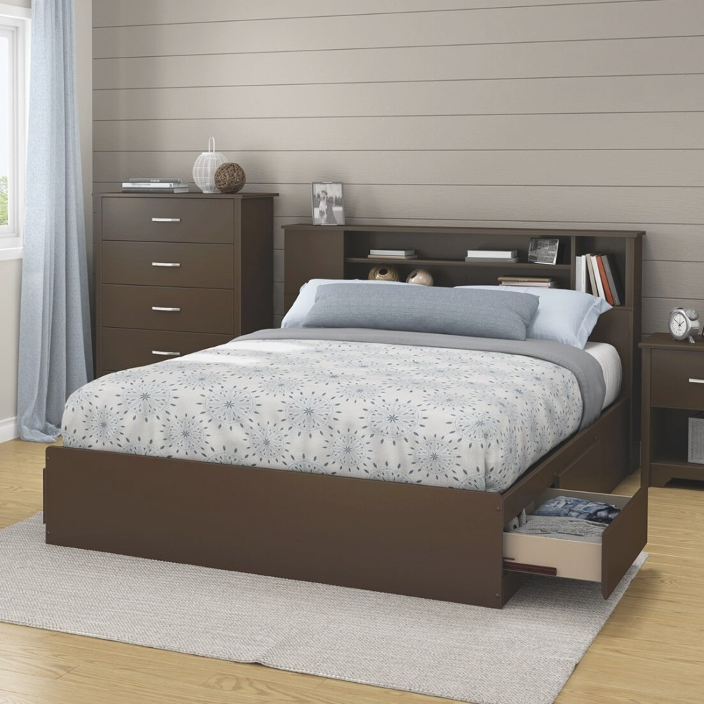 South Shore Queen Storage Platform Bed & Reviews | Wayfair with regard to Queen Bed With Storage