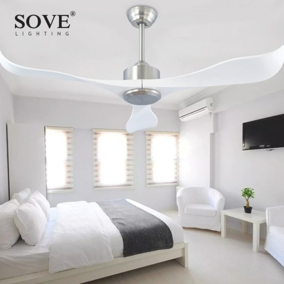 Sove Modern Ceiling Fans Without Light Remote Control pertaining to Ceiling Fan In Bedroom