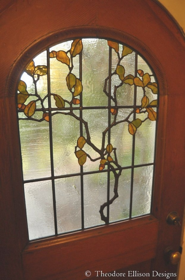 Stained Glass Oakleaf Doortheodore Ellison Designs with Craftsman Stained Glass Panel Collection