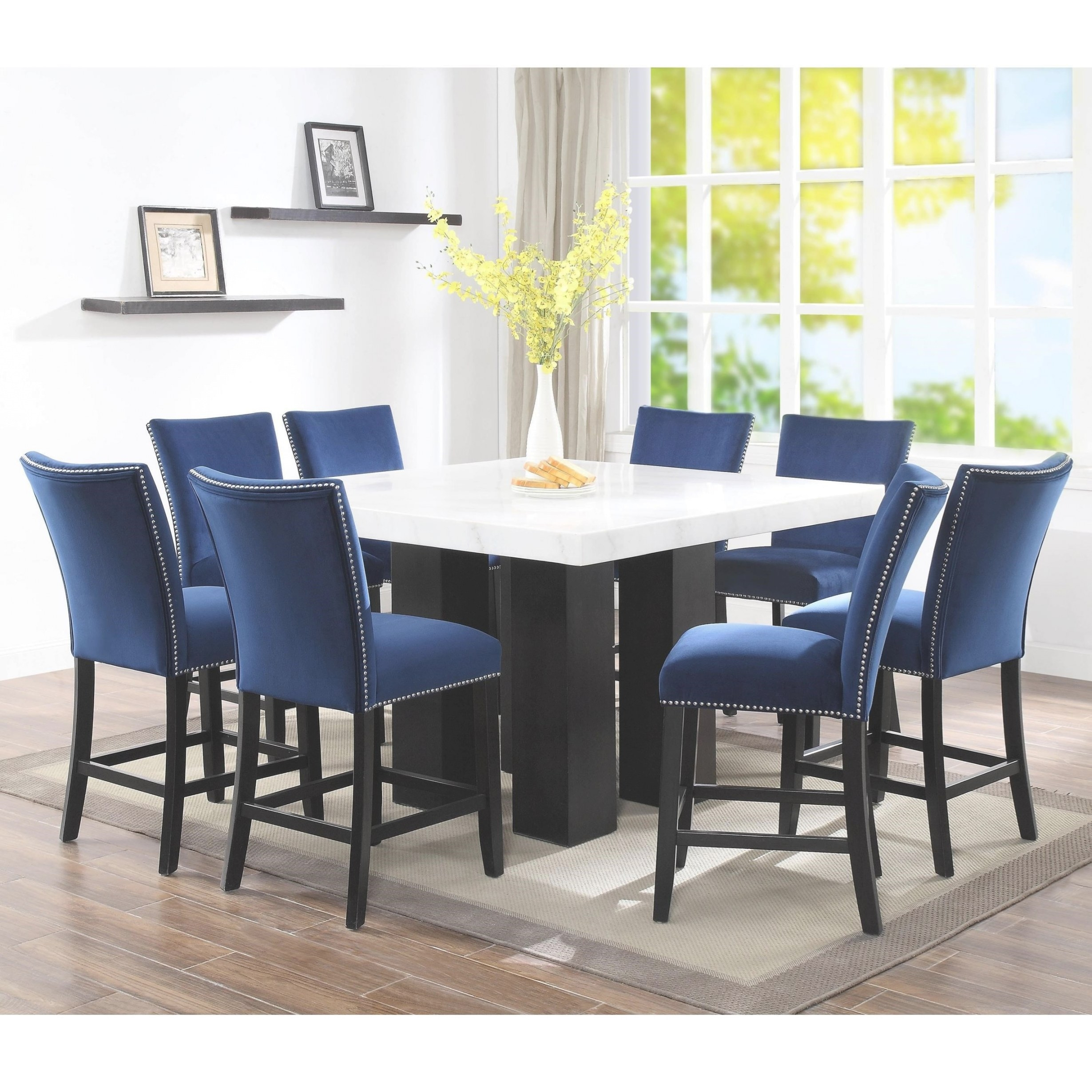 Steve Silver Camila 9 Piece Counter Height Dining Set With intended for 9 Piece Dining Set