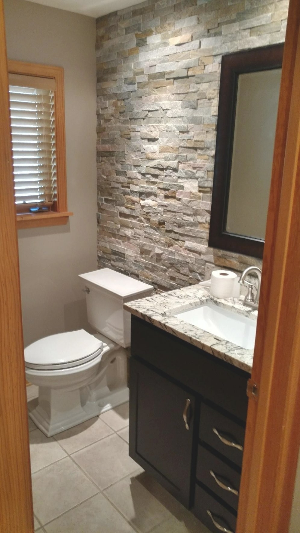 Stone Accent Wall Bathroom | Bathroom Accents, Stone inside Accent Walls In Bathrooms