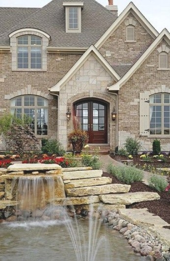 Stone And Brick Exterior Home Design: 99 Awesome Pictures throughout Brick And Stone Homes