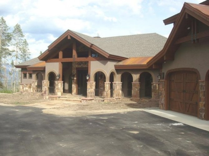Stone And Brick Mountainhomes |  Stone We Specialize In within Stucco And Stone Homes