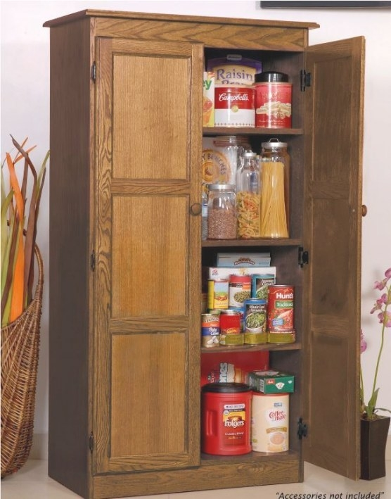 Storage Cabinet For Kitchen Country Cupboard Pantry Oak pertaining to Kitchen Pantry Storage Cabinet