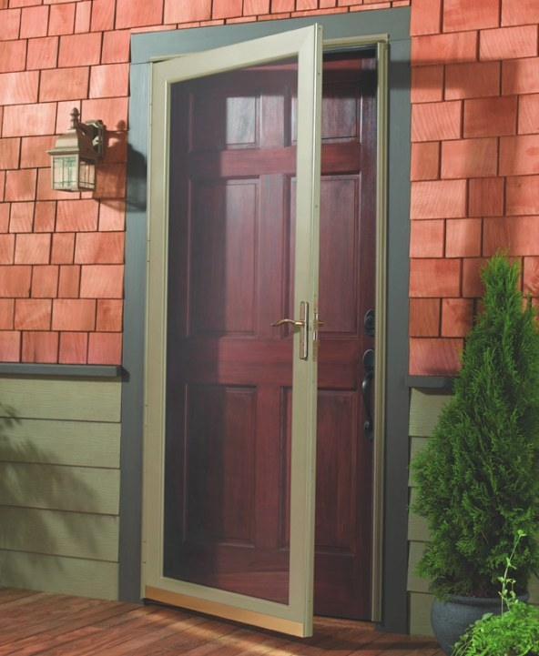 Storm Doors - Norm'S Bargain Barn inside Exterior Door With Built In Pet Door Lowes