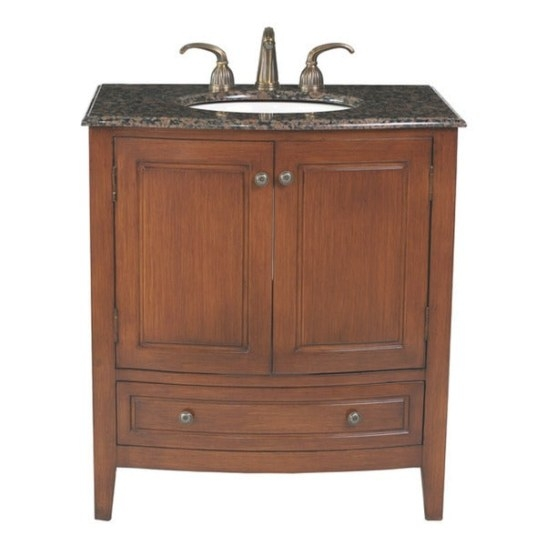 Stufurhome 32-Inch Single Sink Baltic Brown Top Bathroom regarding 32 Inch Bathroom Vanity