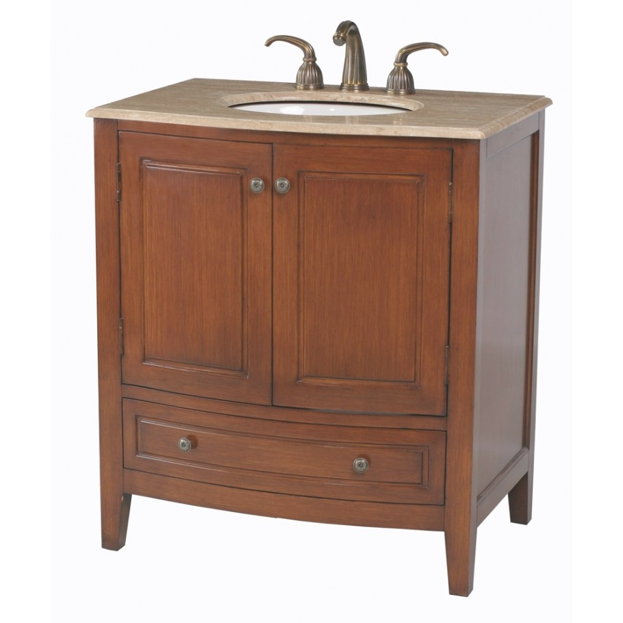"Stufurhome 32"" Stufurhome Single Sink Bathroom Vanity With pertaining to 32 Inch Bathroom Vanity"