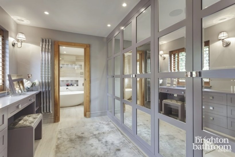 Stunning Master Wetroom With Walk-Through Dressing Room in Walk Through Closet To Bathroom
