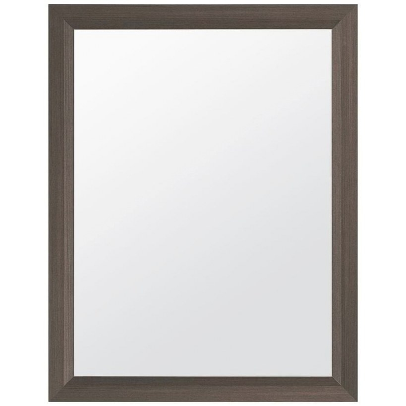 Style Selections 24-In Gray Rectangular Bathroom Mirror At with regard to Rectangular Mirrors For Bathroom