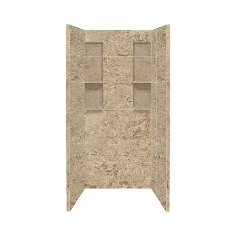 Style Selections Sand Mountain Shower Wall Surround Panel intended for Solid Surface Shower Wall Panels