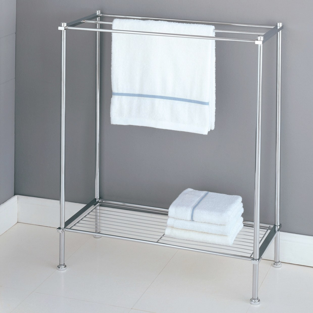 Stylish Free Standing Towel Racks For Outstanding Bathroom in Towel Racks For Small Bathrooms