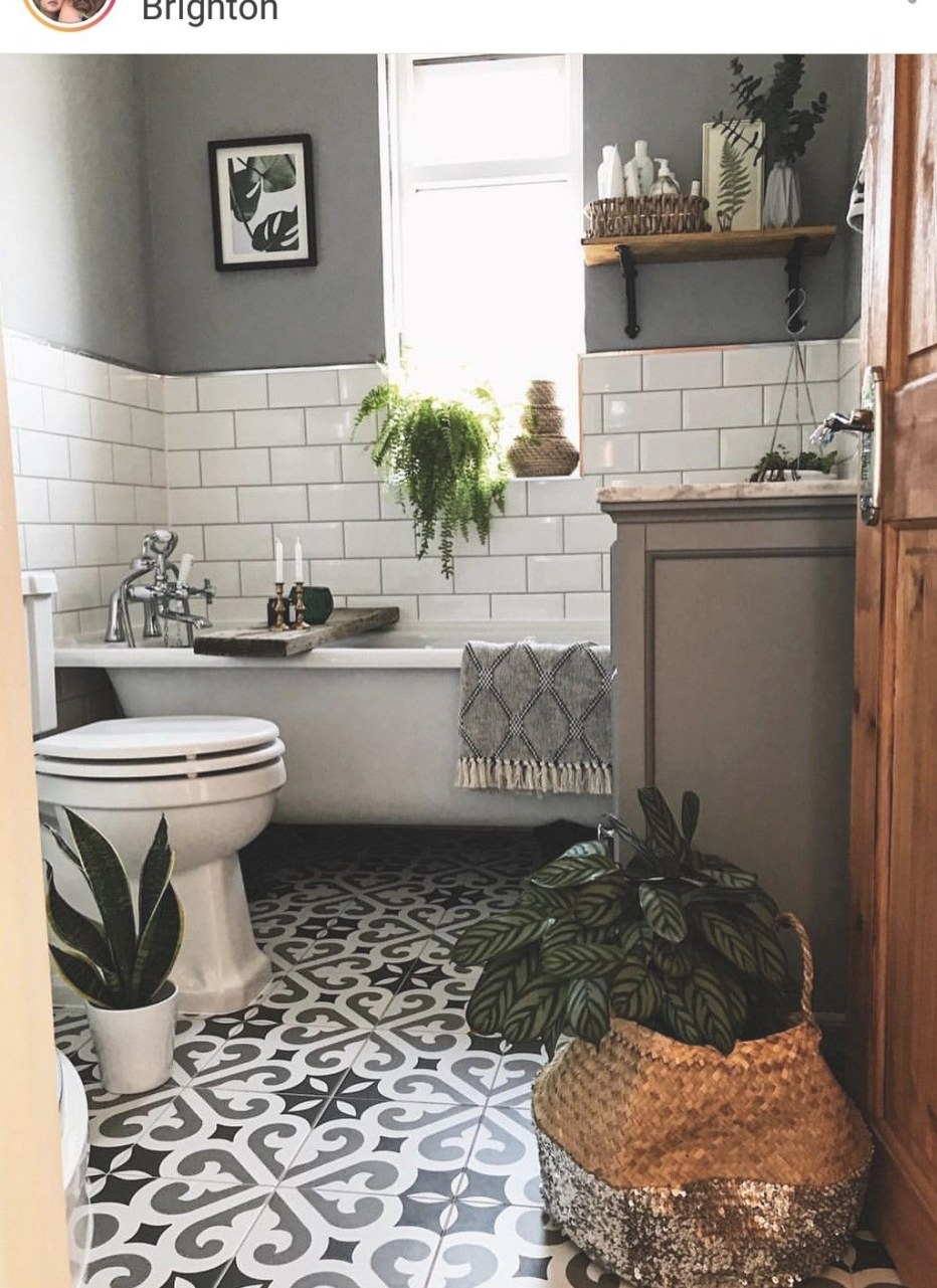 Super Cute Small Bathroom | Cozy Bathroom, Farmhouse with Pics Of Small Bathrooms
