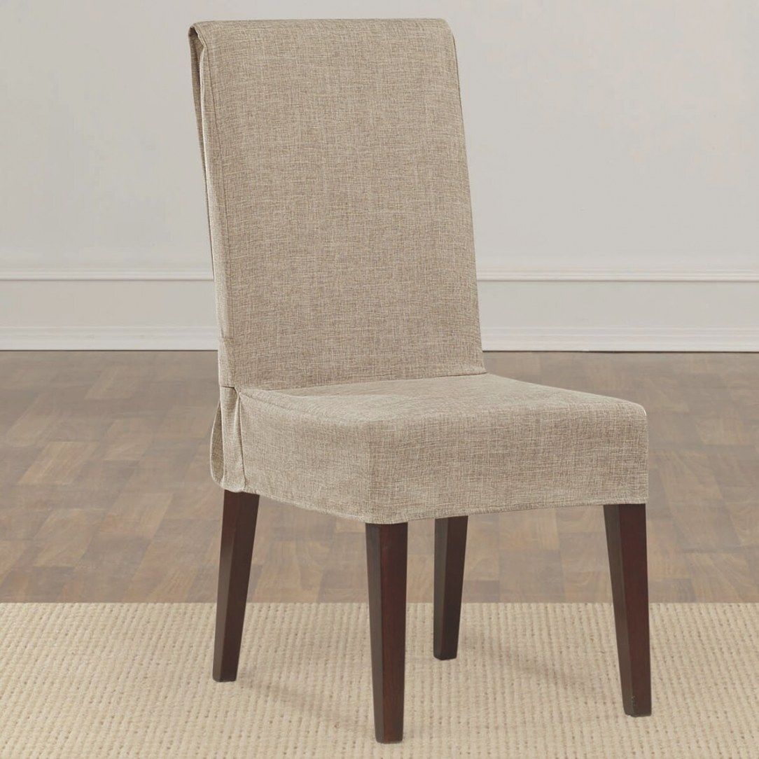 Sure Fit Shorty Dining Chair Slipcover & Reviews | Wayfair with regard to Dining Room Chair Covers