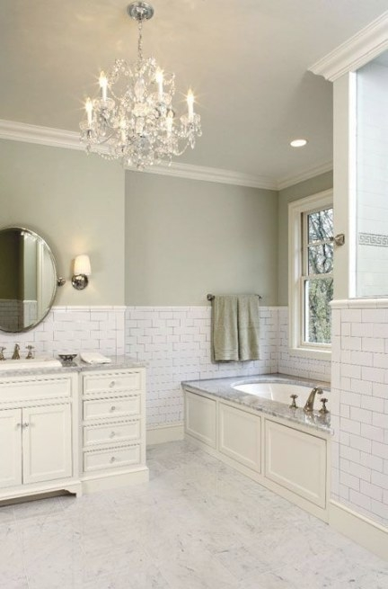 Suzie: Hendel Homes - Gorgeous Green Bathroom With Sage with Green And Gray Bathroom
