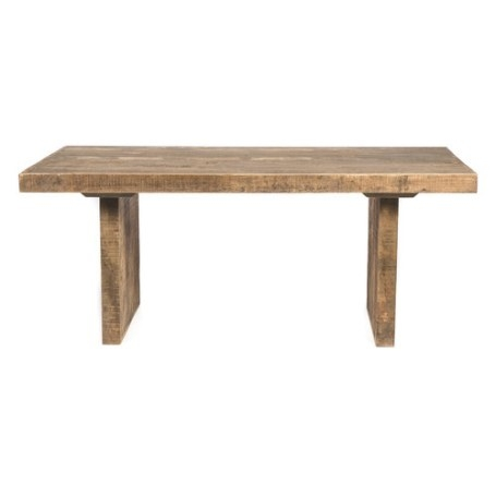 Swazi 6 Seater Rectangular Mango Wood Dining Table intended for Mango Wood Dining Table