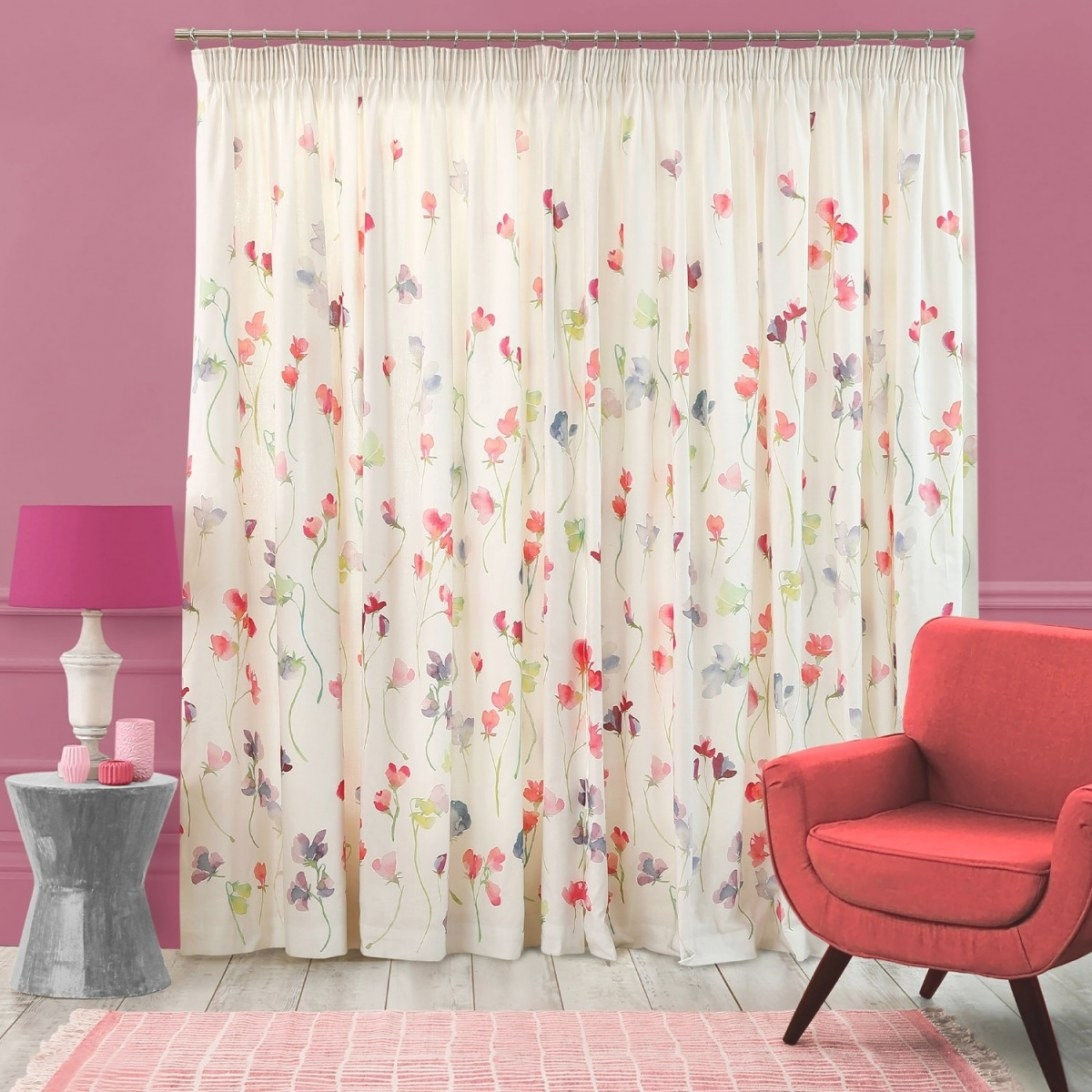 Sweet Pea Curtains - Floral Design Curtains | Bluebellgray inside S&W Kitchens